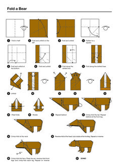 Origami Bear Instructions Origami instructions