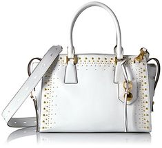 d02b56fd3944 Cole Haan Marli Studding Satchel Optic White   Be sure to check out this  awesome product