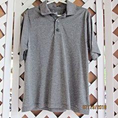 21dba8e235418 C9 Champion Boys Pull Over Dress Shirt Size S 6-7 Grey Striped  c9bychampion