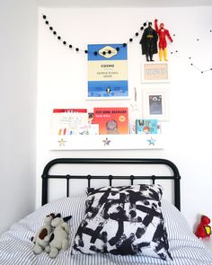 The Twinkle Diaries twin bedroom makeover — monochrome kids bedroom decor Kids Bedroom, Bedroom Decor, Bedroom Ideas, Cloud Shelves, Pine Wardrobe, Old Room, Room To Grow, Cot Bedding, Twin Boys