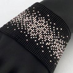 Pattern, Sprinkles - Blushed Steel, Beaded Bracelet, Square Stitch or Loomwork Loom Bracelet Patterns, Bead Loom Bracelets, Bead Loom Patterns, Beading Patterns, Beaded Jewelry Designs, Peyote Beading, Bijoux Diy, Square, Beading Tutorials