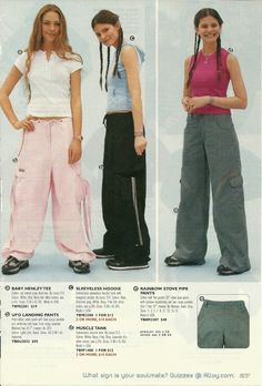 Another page from the Alloy Catalog (2000)'UFO Landing Pants'