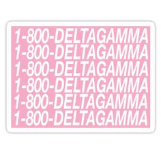 """Delta Gamma Hotline Bling"" Stickers by Julia Christina 