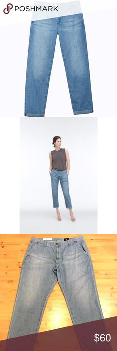 AG Adriano Goldschmeid The Caden Tailored Trousers NWT AG Adriano Goldschmeid The Caden Tailored Trousers. Size 30. Light wash. Cropped, relaxed fit. AG Adriano Goldschmied Jeans Ankle & Cropped