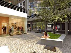 Uso misto Estação Vila Prudente - O térreo do edifício  é comercial,  atraindo maior quantidade de pessoas e se relacionando com o entorno. ______________________________  Mixed use Vila Prudente Station #mixeduse #architecture