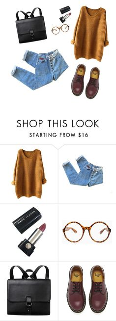 """outfit 2"" by livbug9856 on Polyvore featuring Marc Jacobs, Tobi, Monki and Dr. Martens"