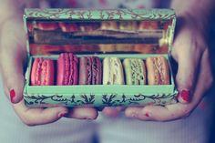 macaroons.  like a gorgeous jewel box.