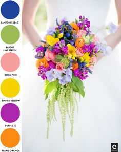 "Color Palette Numero 2! I feel like this one is more ""you"" Christine! It's fun and vibrant and bright colors!"
