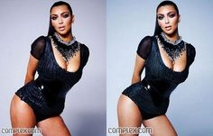 Kim Kardashian and plenty of other celebrities before and after photoshop. Definitely worth reading.