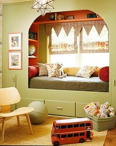 boy room, built in bed nook Bed Nook, Cozy Nook, Alcove Bed, Cozy Corner, Cosy, Girls Bedroom, Bedroom Decor, Bedroom Nook, Bedroom Office