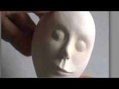 Sculpting a whimsical doll's head with Marlaine Verhelst