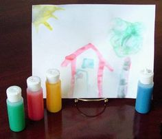 Essential Oil Scented Finger Paints- Protects from germs and elevates moods-For high quality theraputic grade essential oils go to www.kthompson.vibrantscents.com