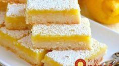 Hrnčekový citrónový koláč 1 hrnček masla (studeného) – 250 g ½ šálky kryštál cukru 2 šálky polohr múky Náplň: 1 šálku kryštál cukru ¼ šálku hlad múky 4 vajcia 2 citróny (budeme potrebovať kôru aj šťavu) Cesto rozvaľkáme, na plech. Pečieme pri 180° 20 min. Vajcia vyšľaháme vo vodnom kúpeli s cukrom (penová konzistencia),  primiešame citrón šťavu, kôru a múku. Vymiešanú hmotu zložíme,  7-10 min odpočívať. Potom hmotu natrieme na upečené cesto a opäť do rúry. Pečieme ešte 20-25 min