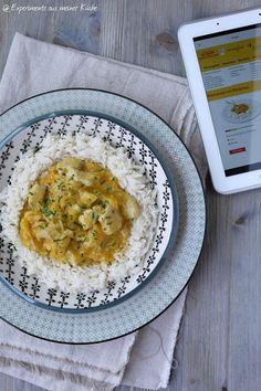 Experimente aus meiner Küche: Curry-Putengeschnetzeltes mit Pfirsich