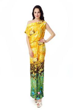 a3a48df310fd SeeU29 Womens Summer Bohemian Floral Print Basic Casual Plus Size Maxi Dress  XL-6XL