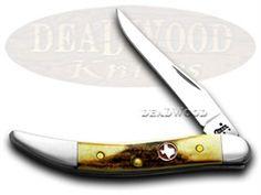 CASE XX Texas Genuine Stag Tiny Toothpick 1/300 Pocket Knife - CA2877 TX | 2877 - 021205028774