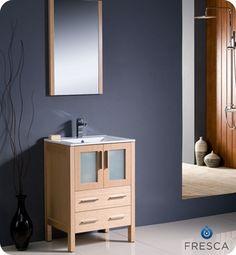 Inspiration Web Design Fresca Torino Light Oak Bathroom Vanity with Integrated Sink
