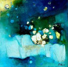 """""""Nella notte"""" Tecnica mista su tela 30x30 cm www.francescanicoli.com"""