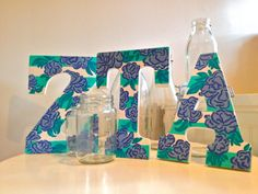 Custom Painted Lilly Print Sorority & Monogram Letters: Set of Three. Buy custom, made to order sorority letters from my Etsy shop, $40 for three and $30 for two. Choose your print and letter combination! Ships in 1-2 weeks. Perfect for big/little, house decorations, and dorms!