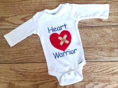 Hey, I found this really awesome Etsy listing at https://www.etsy.com/listing/179486106/heart-warrior-onesieshirt
