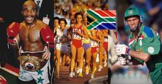 One thing we're certainly not short on in South Africa is sporting talent. We've got famous South African sportspeople by the bucket load! Let's take a look at some of the most memorable and remarkable sports stars to wear our national colours with pride. Famous Sports, Sports Stars, South Africa, Famous People, Pride, Take That, Colours, Africans, Bucket