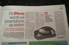 iMove de nieuwe hype van apple. De electrische auto van applle. Algemeendagblad 20 februari 2015