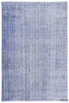 K0019642 Blue Over-dyed Turkish Vintage Rug | Kilim Rugs, Overdyed Vintage Rugs, Hand-made Turkish Rugs, Patchwork Carpets by Kilim.com