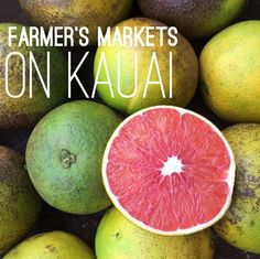 Attending a farmer's market on Kauai is essential when visiting the Garden Island. Enjoy a variety of fresh fruits, flowers and produce, all from Kauai.