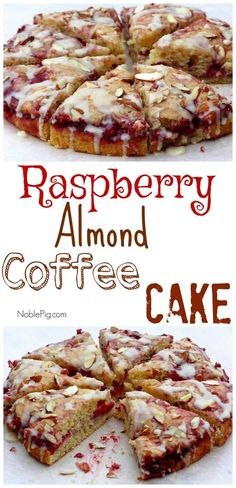 Raspberry Almond Coffee Cake from NOblePig.com.