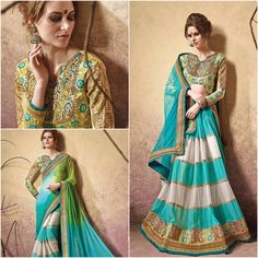 Buy Now @ http://www.ethnicduniya.com/product/light-turquoise-&-chrome-green-lycra-and-net-wedding-saree/  Light Turquoise & Chrome Green Lycra and Net Wedding Saree  You will be bound to make a effective style statement with this Light Turquoise & Chrome Green Lycra Saree. The ethnic Lace & Patch Work work at the clothing adds a sign of attractiveness statement with your look.  Product Code : EDWS70  Price : 5545 INR  @ www.ethnicduniya.com  #saree #sarees #designersaree #..