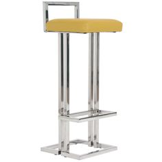 Vintage Milo Baughman Style Chrome Bar Stools | From a unique collection of antique and modern stools at http://www.1stdibs.com/furniture/seating/stools/