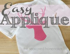 Silhouette Deer Head Applique - BeBetsy - Shared by the @Leslie Lippi Rutland {seasonedhomemaker.com} #applique #sewing