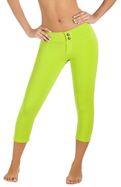 Protokolo Green Jean Style Capri - Love the style, love the color...Just LOVE THESE!!