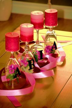 Although it's for a baby shower, I'm going to use this idea for my wedding centerpieces