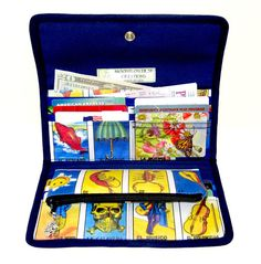 Loteria Mexican Card Game Wallet With Coin Purse  by moonflower20, $58.00