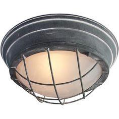Plafondlamp Typhoon 2-lichts grill beton grijs