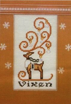 Vixen is the title of this cross stitch pattern from Hinzeit's Crystal Series that is stitched with DMC threads. The pattern includes the Sw...
