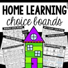 Home Learning Choice Boards for Preschool, Pre-K, and Kinder Distance Learning - Modern Home Learning, Learning Activities, Teaching Resources, Toddler Learning, New Classroom, Google Classroom, Classroom Ideas, Classroom Organization, Choice Boards
