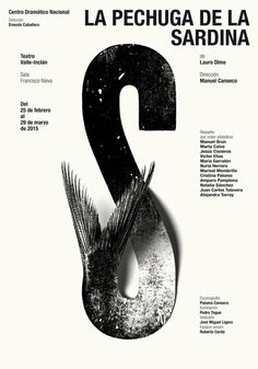 Typographic poster design by Isidro Ferrer Poster Design, Poster Layout, Graphic Design Posters, Graphic Design Typography, Graphic Design Illustration, Cv Inspiration, Typography Inspiration, Graphic Design Inspiration, Design Graphique