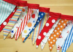 NEW - Circus Pennant Garland -  Made to Order