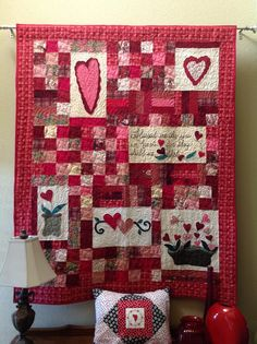 "from: Teresa Ward Marler: ""It's a little past Valentine's Day, but here is my heart quilt."""