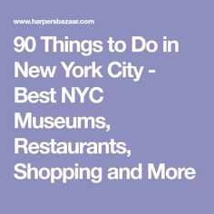 90 Things to Do in New York City - Best NYC Museums, Restaurants, Shopping and Nyc Art Museums, New York City Museums, New York City Travel, New York Activities, New York 2017, Ny Usa, Disaster Preparedness, Future Travel, Vacation Trips
