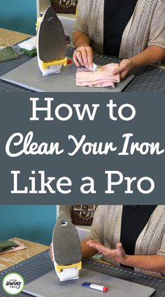 How to Clean an Iron: Tips and Techniques - Cleaning your sewing machine and sharpening your scissors and snips may be the most common cleaning -
