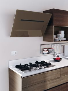 Cooking Area with Hood | #Evolution | #Scavolini | #ModernKitchens | #InteriorDesign