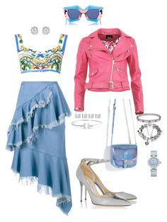 """Light Blue"" by isabell-zanoletti on Polyvore featuring moda, FRACOMINA, House of Holland, Dolce&Gabbana, Marques'Almeida, Cartier, Maison Margiela, OMEGA, Tiffany & Co. e Effy Jewelry"