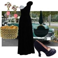 1940s party by mollylsanders on Polyvore featuring Prada and Sweet Romance