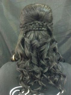 prom do!  bump, braids, and curls!