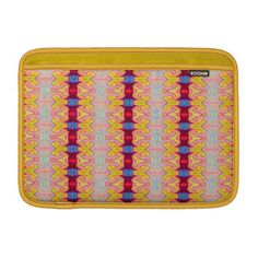 pretty yellow red ribbon pattern MacBook sleeves