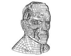 The Terminator Head Ver.2 Free Papercraft Download - http://www.papercraftsquare.com/the-terminator-head-ver-2-free-papercraft-download.html#Head, #SciFi, #Terminator, #TheTerminator