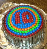 My daughter Kendra and I made this for my son Zac's Birthday. So Easy, and he said it was his best cake EVER! 10 Birthday Cake, 10th Birthday, Birthday Ideas, Fun Ideas, Party Ideas, Best Cake Ever, Outdoor Paint, Exterior Paint, Food Cakes